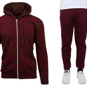 Fleece Hoodie and Joggers Loungewear Pants